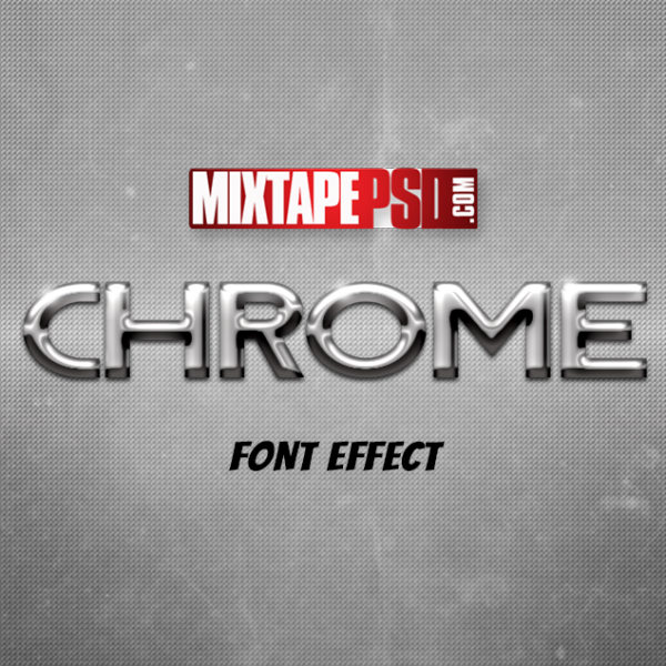 Chrome Style Text Effect 2