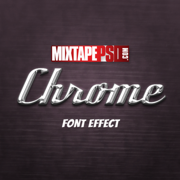 Chrome Style Text Effect