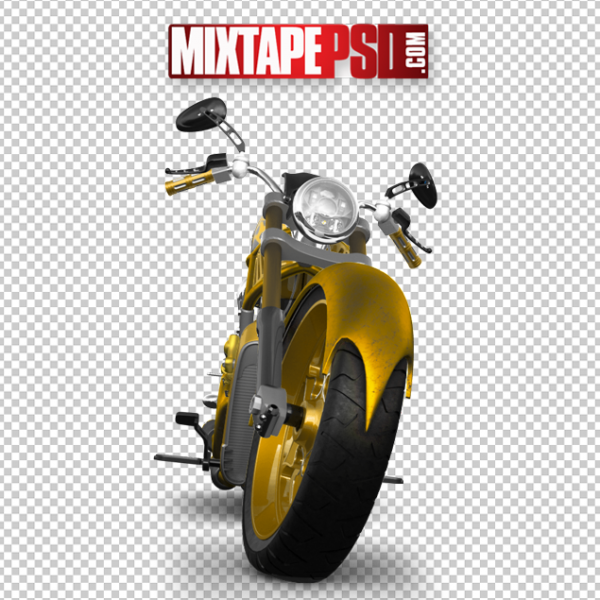 Yellow Chopper Motorcycle Front, PNG Images, Free PNG Images, Png Images Free, PNG Images with Transparent Background, png transparent images, png images gallery, background png images, png background images, images png, free png images download, royalty free ping images
