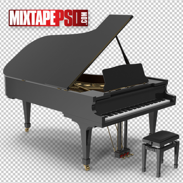 HD Open Concert Piano & Bench, PNG Images, Free PNG Images, Png Images Free, PNG Images with Transparent Background, png transparent images, png images gallery, background png images, png background images, images png, free png images download, royalty free ping images