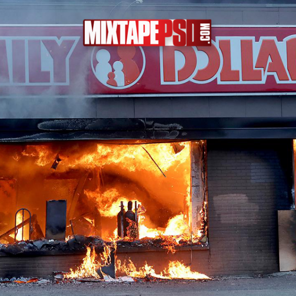 Family Dollar Store on Fire From Riot Background, aesthetic backgrounds, Backgrounds, colorful backgrounds, computer backgrounds, cool Backgrounds, Desktop backgrounds, flyer backgrounds, google backgrounds, hd backgrounds, Mixtape Backgrounds
