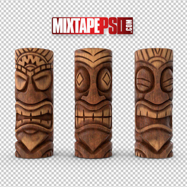 HD 3 Tiki Totem Poles, PNG Images, Free PNG Images, Png Images Free, PNG Images with Transparent Background, png transparent images, png images gallery, background png images, png background images, images png, free png images download, royalty free ping images