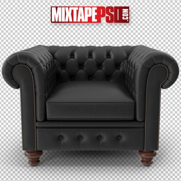 HD Black Chesterfield Black Tufted Chair