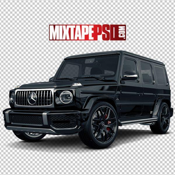 Black Mercedes Truck Angle