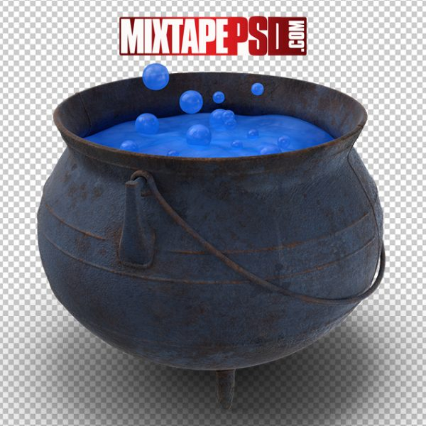 HD Witch Cauldron Blue