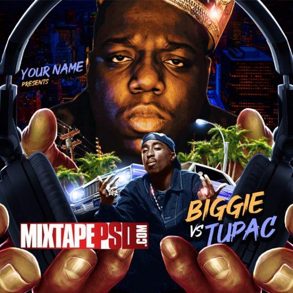 Mixtape Cover Template Biggie vs Tupac, Album Covers, Graphic Design, Graphic Designer, How to Make a Mixtape Cover, Mixtape, Mixtape cover Maker, Mixtape Cover Templates, Mixtape Covers, Mixtape Designer, Mixtape Designs, Mixtape PSD, Mixtape Templates, Mixtapepsd, Mixtapes, Premade Mixtape Covers, Premade Single Covers, PSD Mixtape, free mixtape cover psd templates