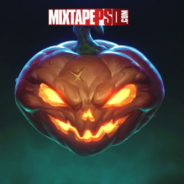 Scary Halloween Pumpkin Background