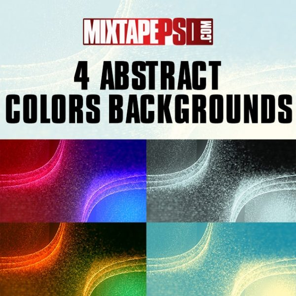 4 Abstract Colors Backgrounds