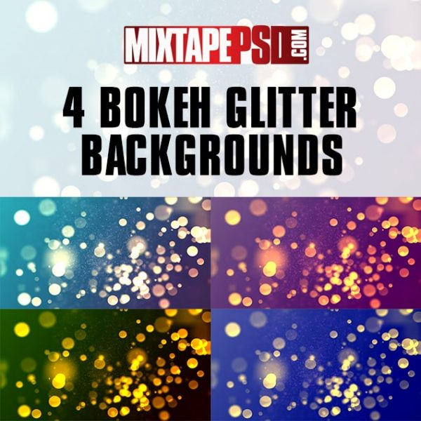 4 Bokeh Glitter Backgrounds