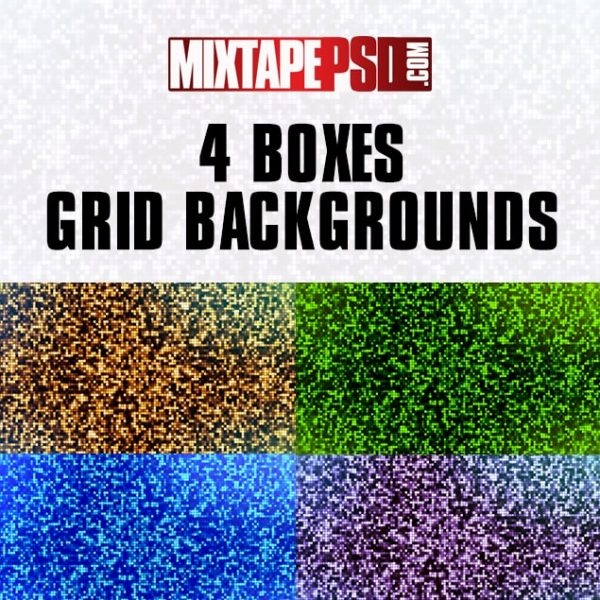 4 Boxes Grid Backgrounds