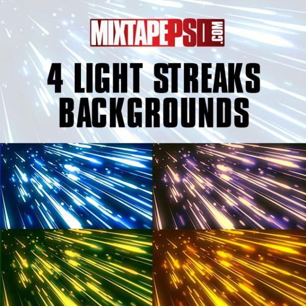 4 Light Streaks Backgrounds