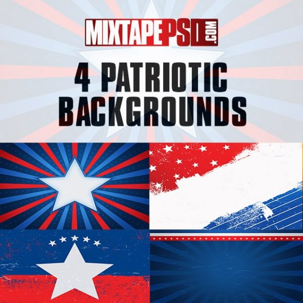 4 Patriotic Backgrounds