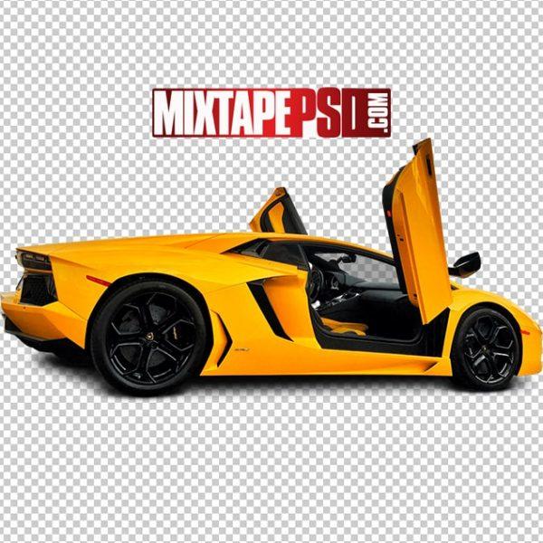 Yellow Lamborghini Open Doors