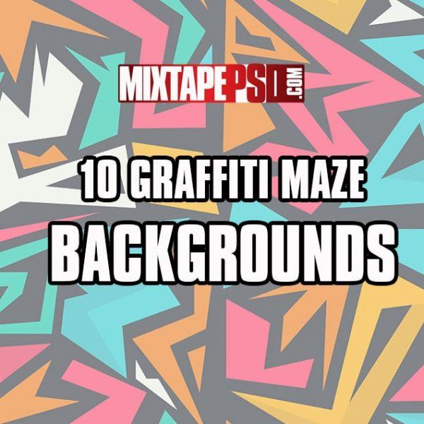10 Graffiti Maze Backgrounds