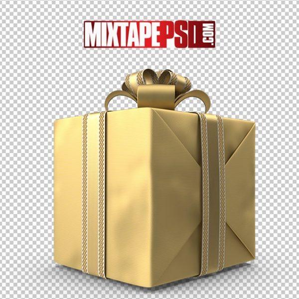 HD All Gold Christmas Gift Box