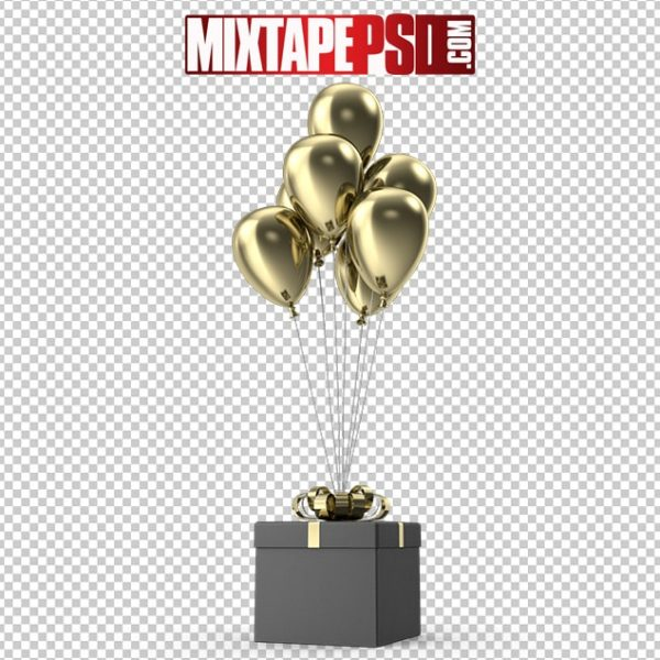 HD Gift Black Box with Gold Ribbon and Gold Balloons, Background png Images, Free PNG Images, free png images download, images png, png Background Images, PNG Images, Png Images Free, png images gallery, PNG Images with Transparent Background, png transparent images, royalty free png images, Transparent Background