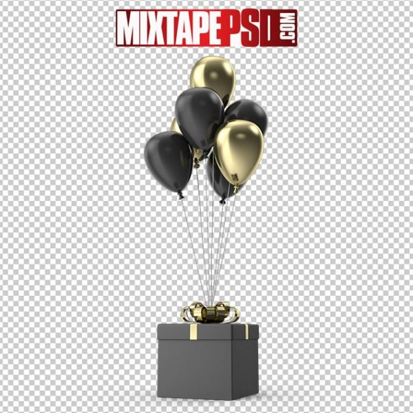 HD Gift Black Box with Gold Ribbon with Black and Gold Balloons, Background png Images, Free PNG Images, free png images download, images png, png Background Images, PNG Images, Png Images Free, png images gallery, PNG Images with Transparent Background, png transparent images, royalty free png images, Transparent Background