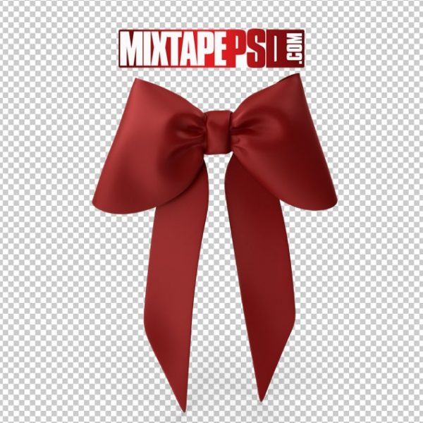 HD Red Christmas Bow 2