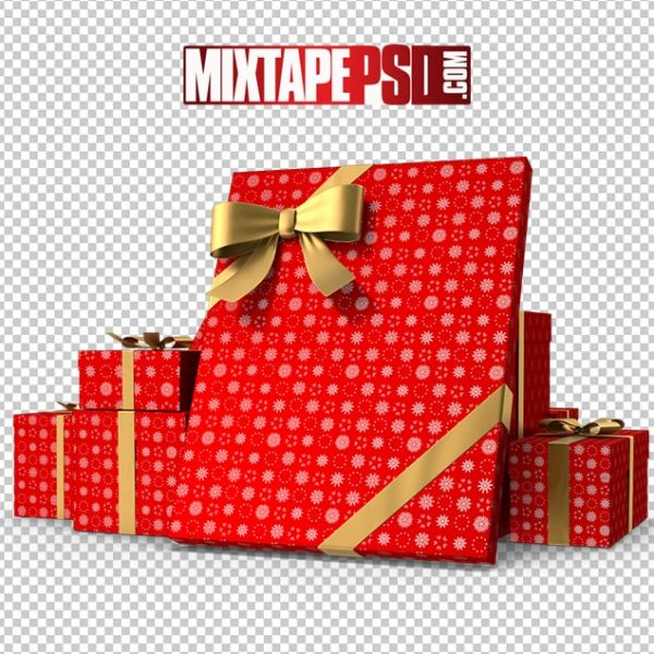 HD Red Christmas Gift Boxes