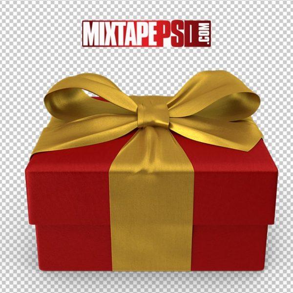 HD Red Gold Christmas Gift Box