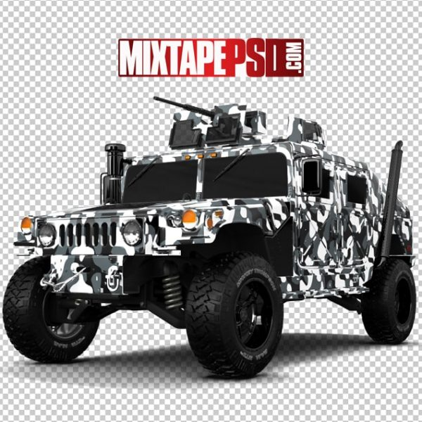 Army White Camouflage Hummer