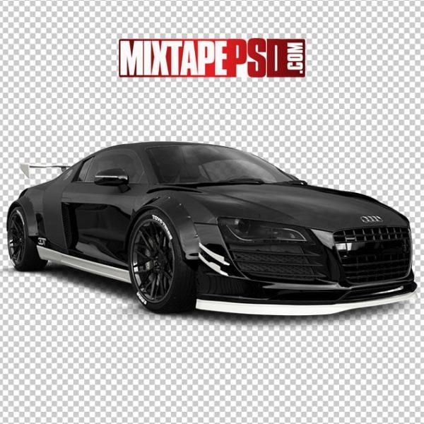 Black Audi Sports Car White Trim
