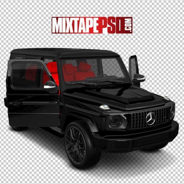 Black Mercedes Truck Red Interior