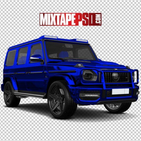 Electric Blue Mercedes Truck
