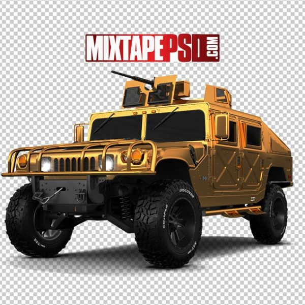 Gold Army Hummer 2