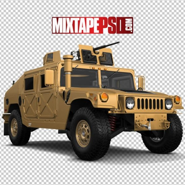 Gold Army Hummer