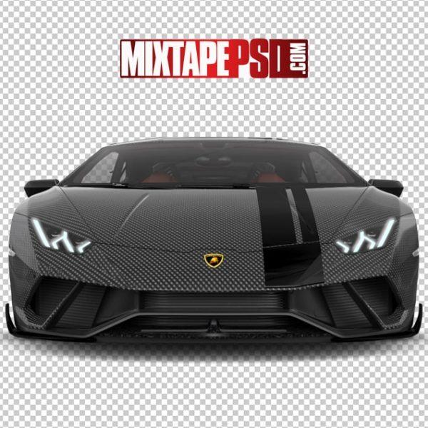 Grey Lamborghini Front view