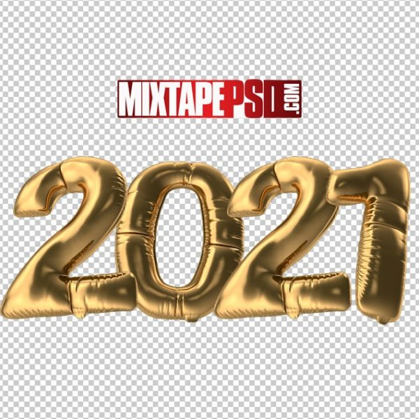 HD 2021 Gold Foil Balloons