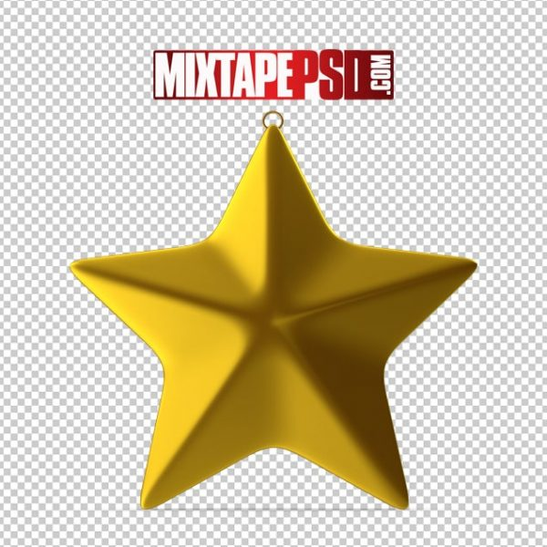 HD Gold Star Ornament