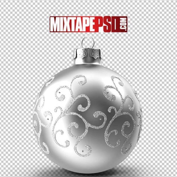 HD Silver Decorated Ornament