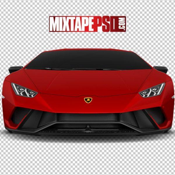 Red Lamborghini Front View