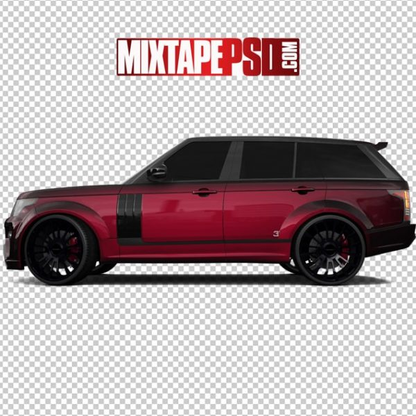 Red and Black Range Rover