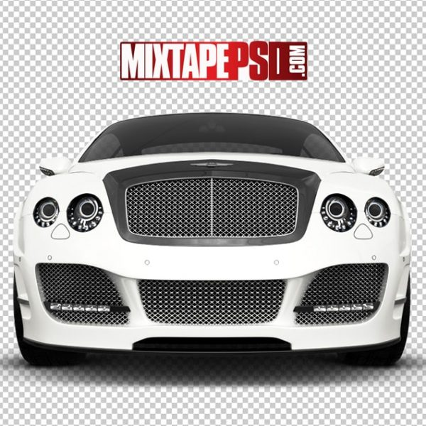 White Bentley Front View
