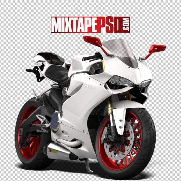 White Red Ducati Motorcycle