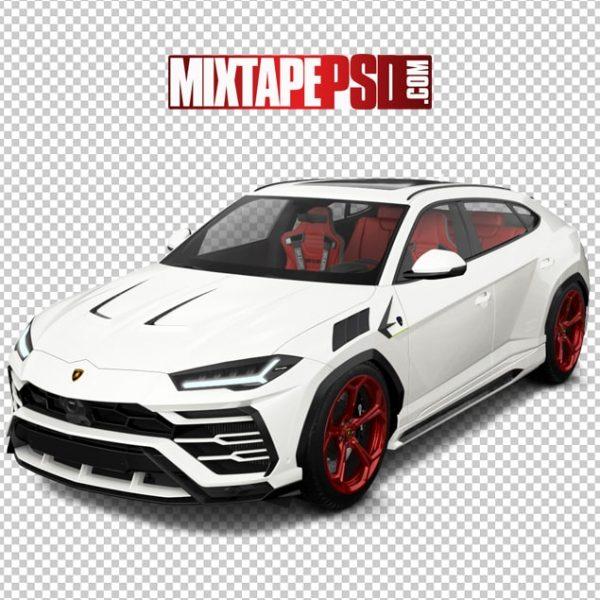 White Red Porsche SUV