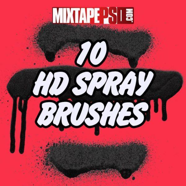 10 HD Spray Brushes