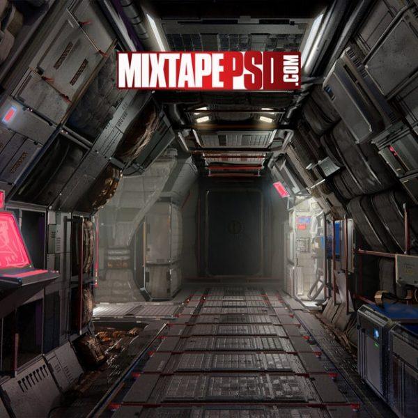 Cyberpunk Space Shuttle Interior