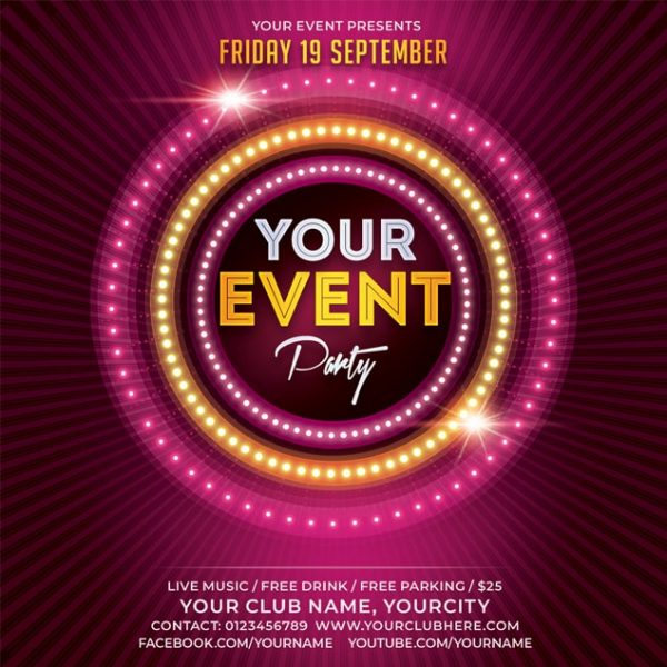 Free Event Flyer Mockup 2