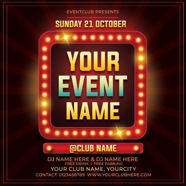 Free Event Flyer Mockup