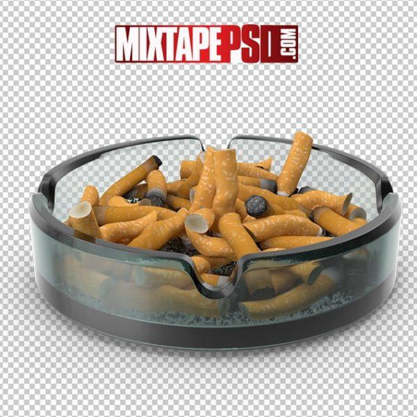 HD Glass Ashtray and Cigarettes