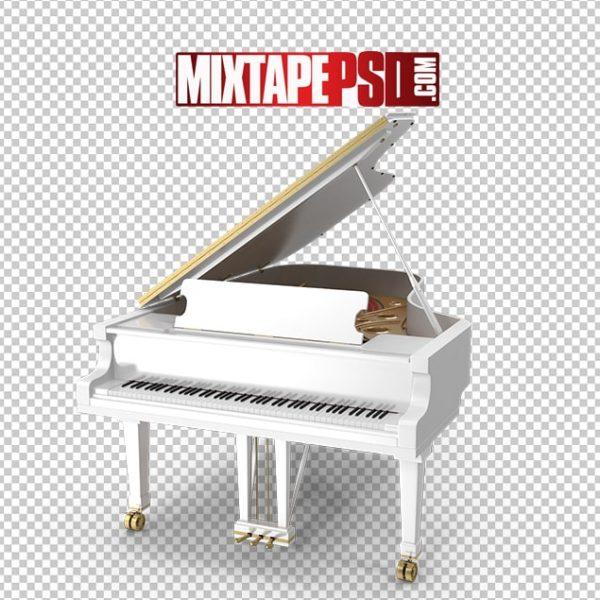 HD Grand White Piano