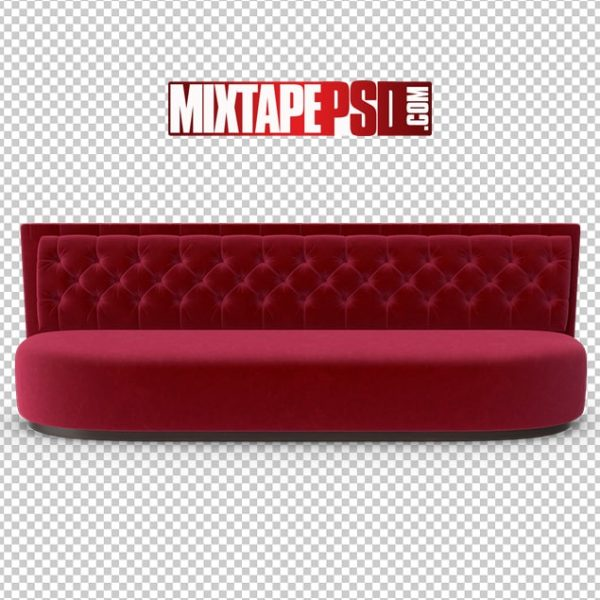 HD Low Red Velvet Club Sofa