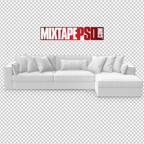HD White Corner Sectional Sofa