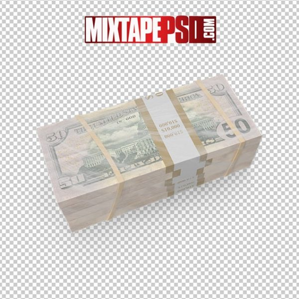HD Wrapped Stack of 50 Dollar Bills