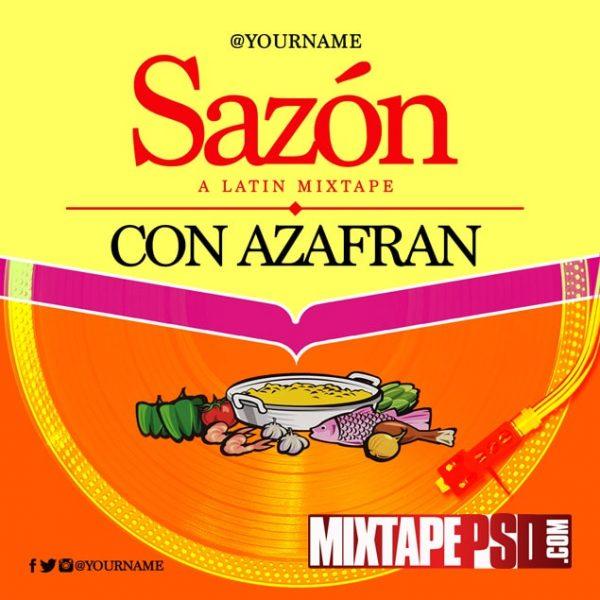 Mixtape Template Sazon Con Azafran