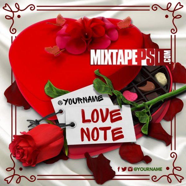 Mixtape Template Valentine Love Note